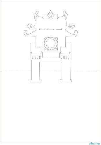 The Art of Kirigami TEMPLE OF LITERATURE (349x500, 24Kb)