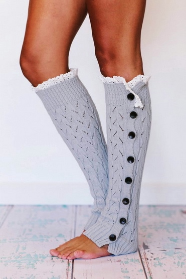 lacy knitted leg warmers button down platinum gray lwk1-03-f14584 (371x556, 92Kb)