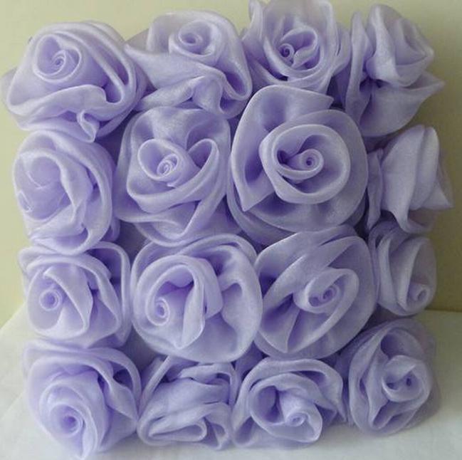 Цветы из ткани своими руками лент204
