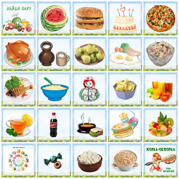 Продукты в картинках для детей детского сада