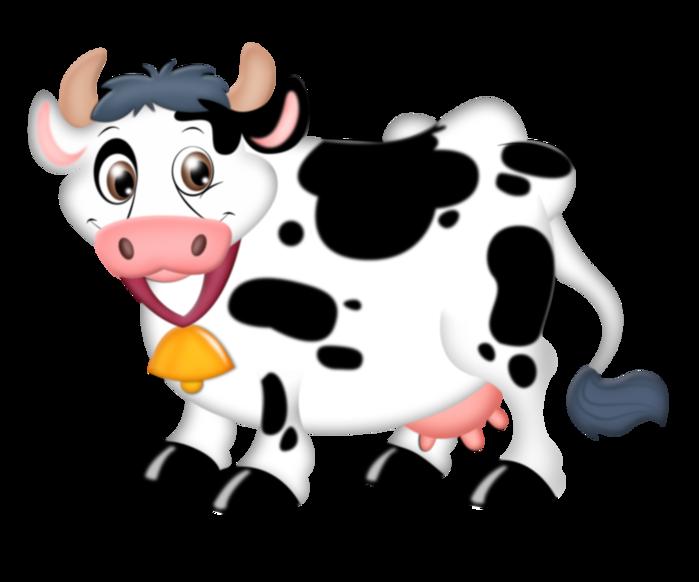 Корова картинки для детей на прозрачном фоне