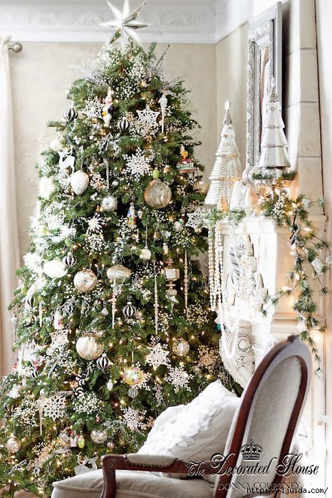 The Decorated House 2013 Christmas White Mercury Glass Silver (466x700, 355Kb)