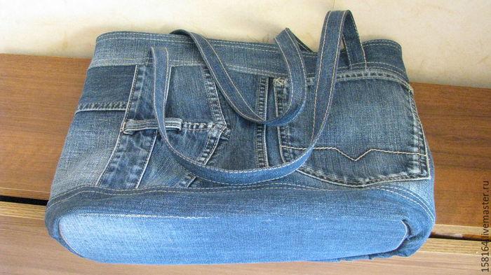 как сшить сумку из джинсовых брюк фото рекомендуется