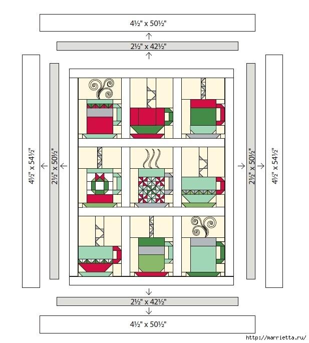 Лоскутное панно с чайными чашками (1) (617x685, 137Kb)