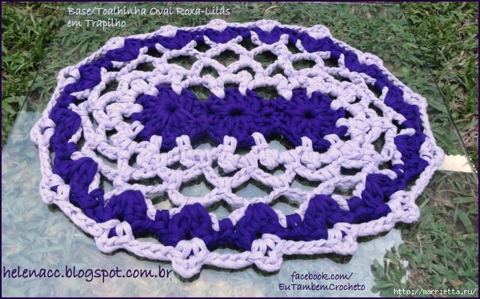 Овальный коврик крючком. Вязание из трикотажных полосок (3) (700x436, 320Kb)