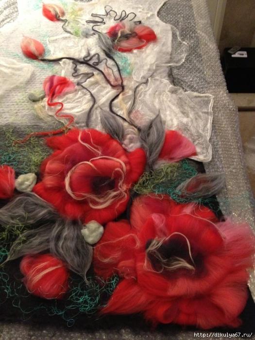 Шерстяные шарфы валяние мастер класс своими руками #4