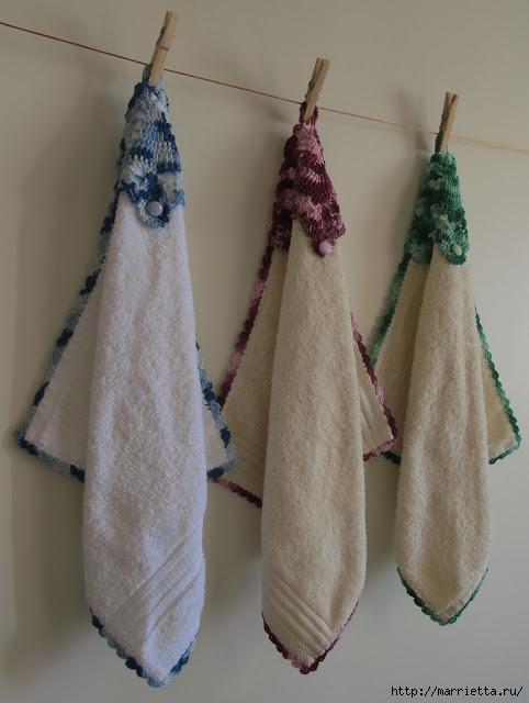 Обвязываем крючком кухонные полотенца. Схема (3) (482x640, 160Kb)