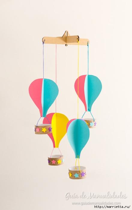 Для детской комнаты. Мобиль с воздушными шарами своими руками (1) (440x700, 99Kb)