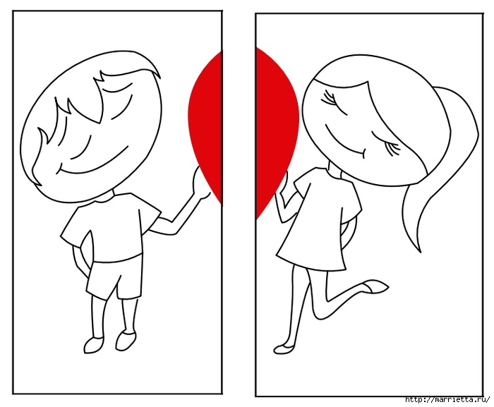 Подушки для влюбленных. Шитье с аппликацией (1) (700x577, 112Kb)