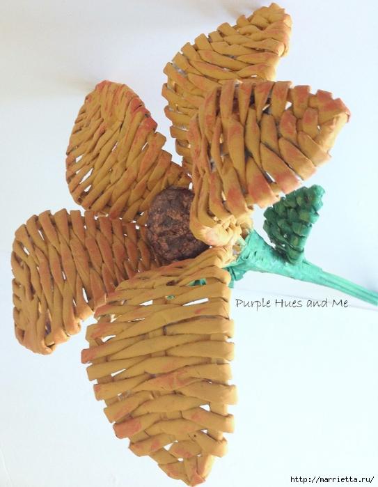 Плетение. Цветы из газетных трубочек (14) (543x700, 258Kb)