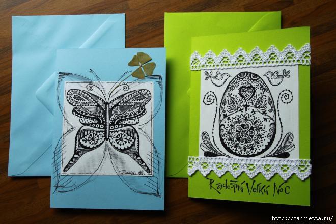 Зентагл - создаем панно и открытки ручной работы (5) (660x440, 167Kb)