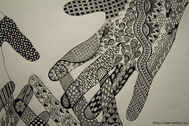 Зентагл - создаем панно и открытки ручной работы (11) (660x440, 215Kb)