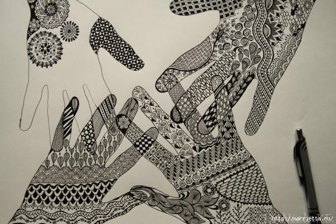 Зентагл - создаем панно и открытки ручной работы (19) (660x440, 219Kb)