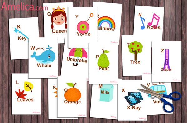 английские звуки для детей карточки распечатать