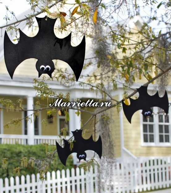 Подвески с тыквами и летучими мышами. Шаблоны к Хэллоуину (1) (553x622, 338Kb)
