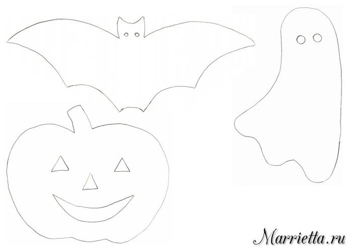 Подвески с тыквами и летучими мышами. Шаблоны к Хэллоуину (2) (700x500, 73Kb)