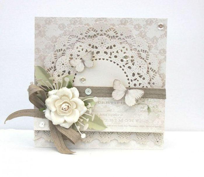 Скрапбукинг все для свадебной открытки