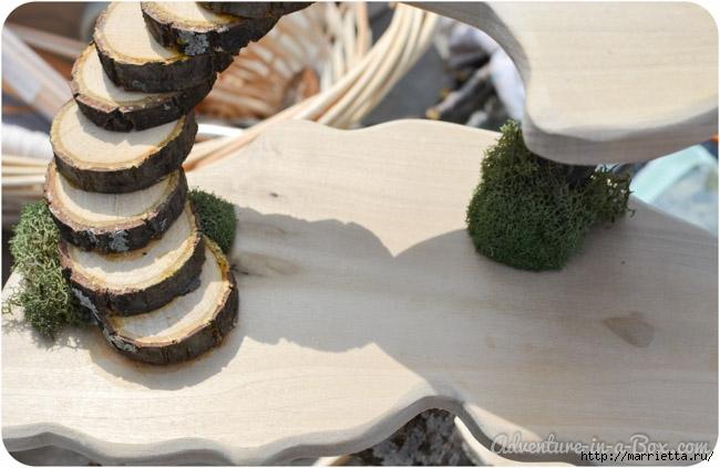 Из природных материалов. Декоративный домик для феи (2) (650x423, 162Kb)