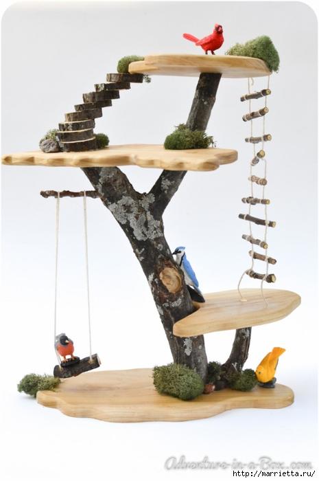 Из природных материалов. Декоративный домик для феи (20) (465x700, 161Kb)