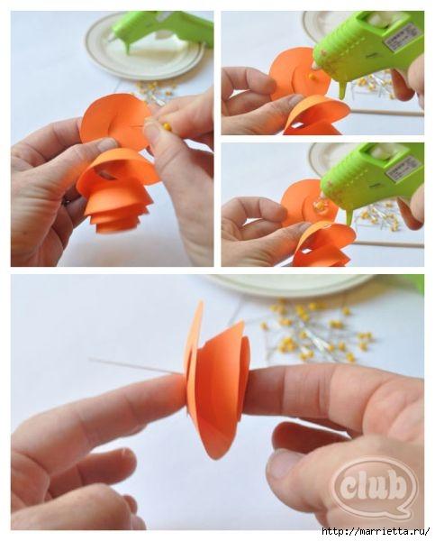 Декоративная бумажная тыковка в спиральных розочках (5) (483x600, 121Kb)