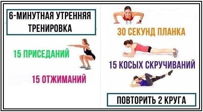 Зарядка по утрам что бы похудеть