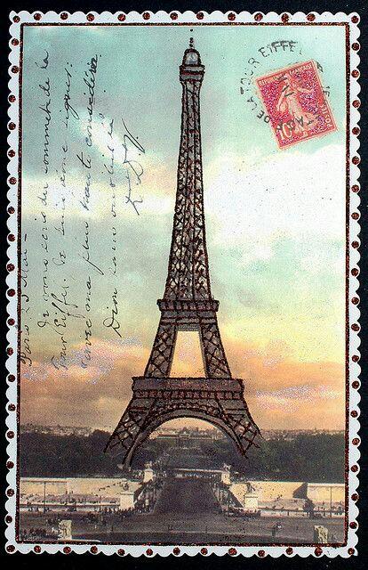 Создания, открытка с башней