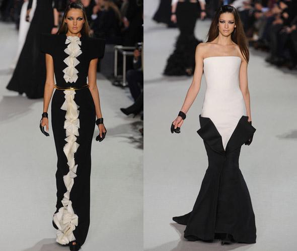 черно-белое платье фото