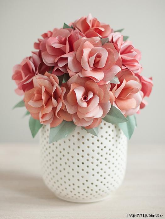 Красивые цветы из бумаги - Изготавлимаем цветы