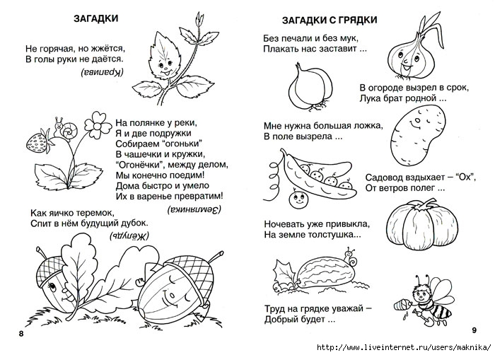 Загадки для малышей с ответами на картинках