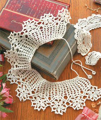 домашнее рукоделие вязание крючком воротничков