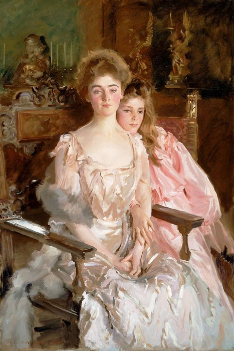 sargent-Mrs. Fiske-Warren and Her Daughter, Rachel (467x700, 277Kb)