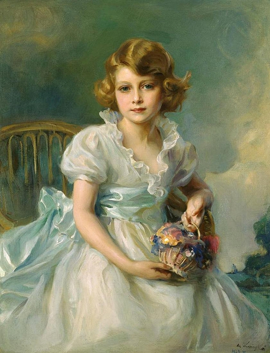 Philip de László.The Queen, when Princess Elizabeth of York ,1933 (535x700, 282Kb)