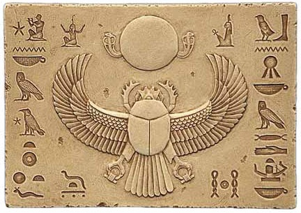 Egyptian Scarab Relief (432x305, 73Kb)