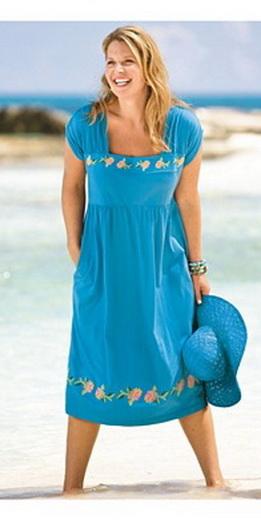 Летние платья для полных женщин выкройки - Выкройка