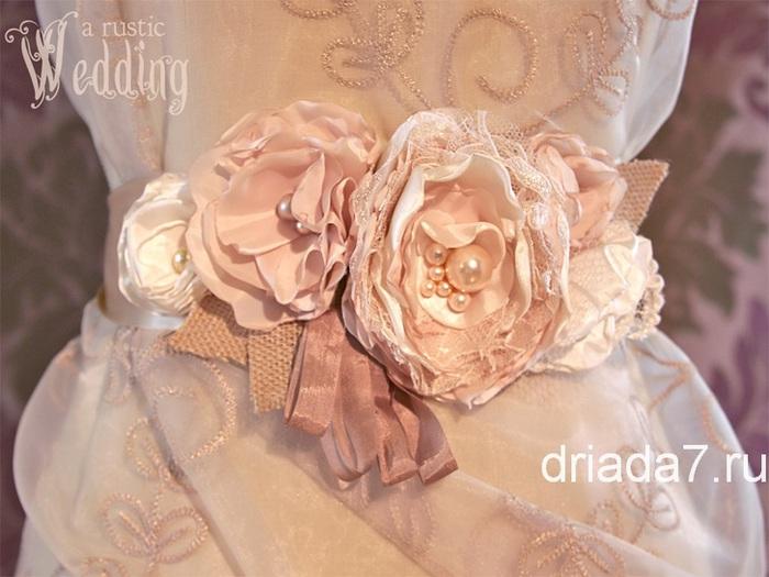 украшение на платье в виде цветов
