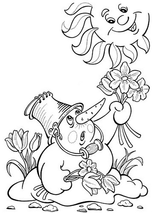 Spring coloring page 9 (500x700, 91Kb)