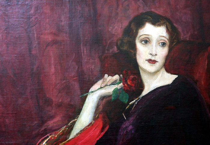 The Red Rose -Sir John Lavery[Irish Painter, 1856-1941 (700x483, 116Kb)