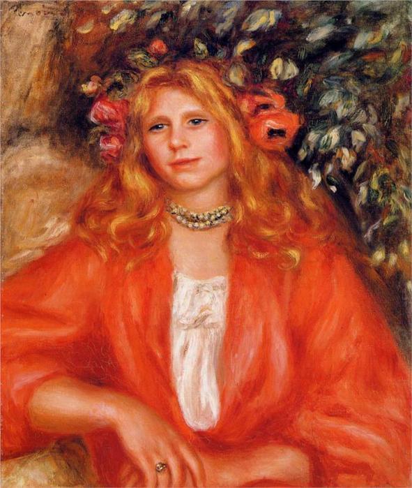 Женщина в красной блузке, 1908 (591x700, 70Kb)