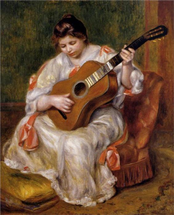 Женщина, играя на гитаре, 1896 (565x700, 61Kb)