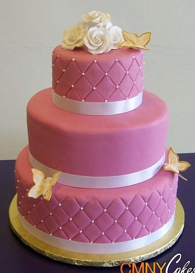 rose pink wedding cake (400x560, 204Kb)