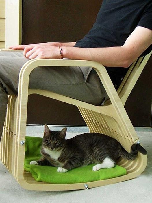 кошки интерьер кресло