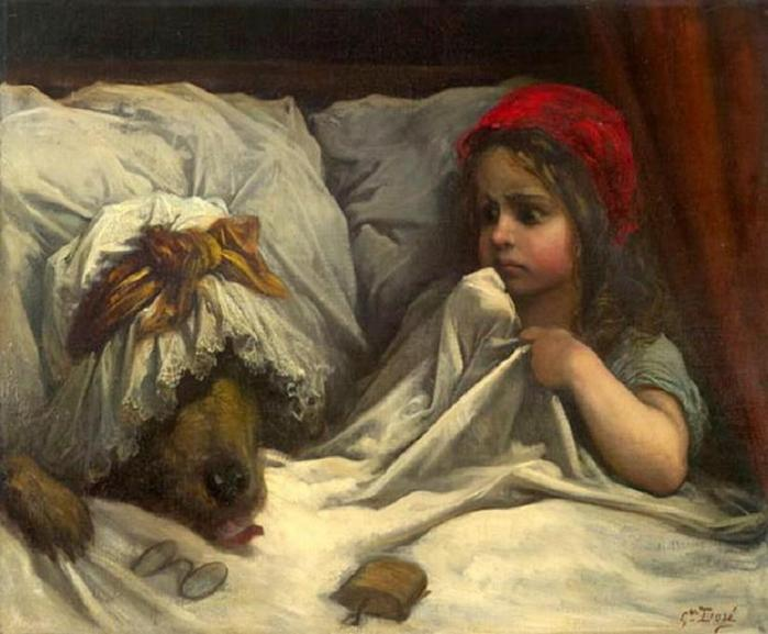 Gustav Doré - Little Red Riding Hood (700x577, 52Kb)