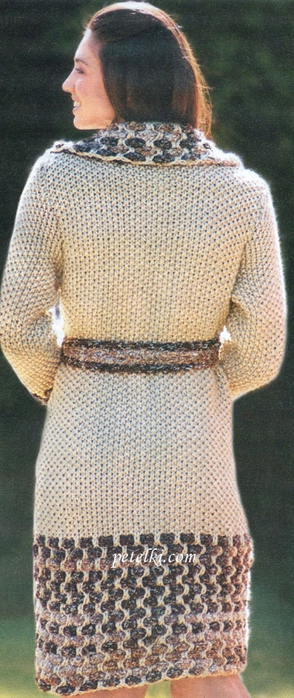 Вяжем пальто спицами. Три модели (12) (294x700, 210Kb)