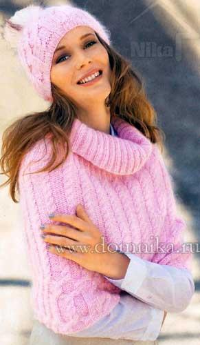 80 Связать женскую шапку для осени