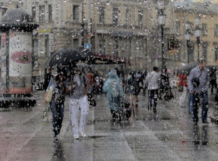 Я знаю: город любви - не Париж, а дождливый Питер ...  Дождливый Город Картина