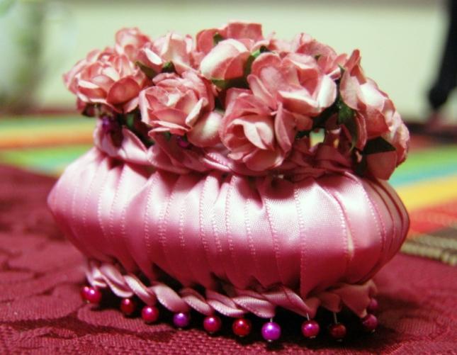 Шелковые цветы из лент своими руками фото 609