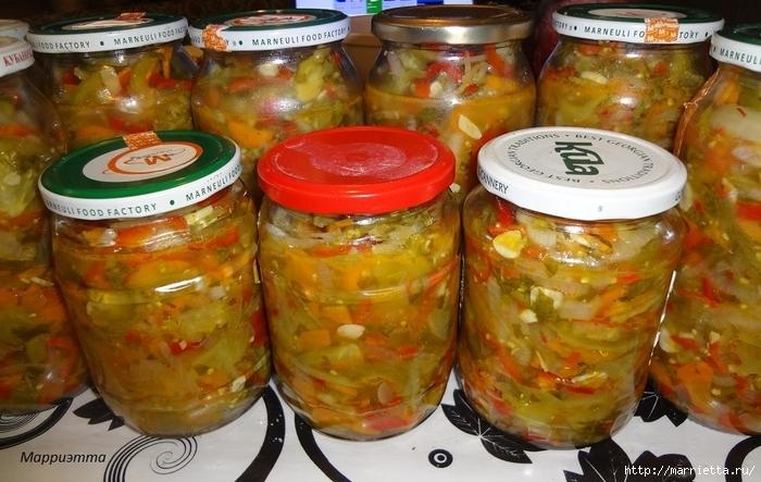 салат с зеленых помидор на зиму рецепты с фото