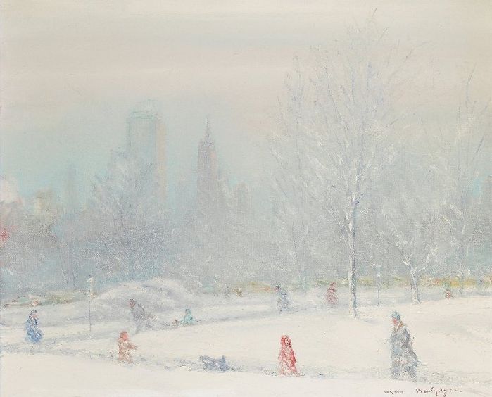 Central Park In The Snow (700x564, 229Kb)