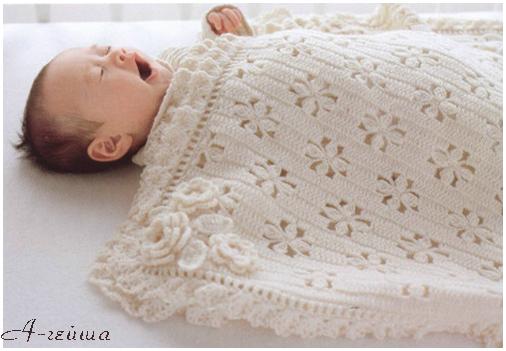 одеяло для малыша вязаное крючком обсуждение на Liveinternet