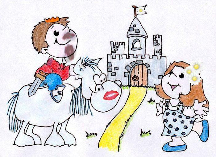 картинка шуточная принц на коне гостей